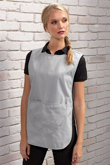 Tabard with front pocket & side opening