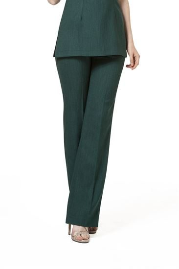 Emerald classic smart cut linen look trousers