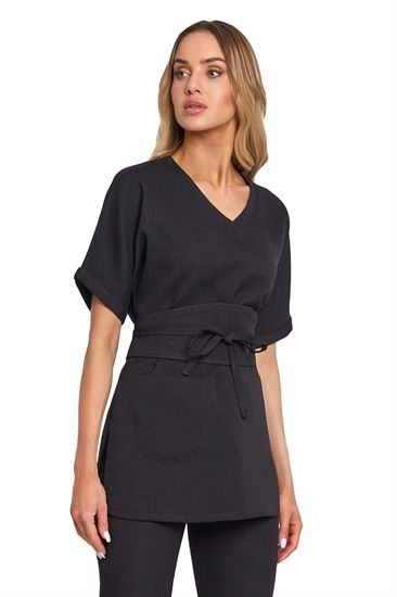 Long sleeve tunic with front pocket B036E
