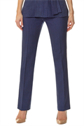 Sapphire slim leg trousers with front zip and buttons
