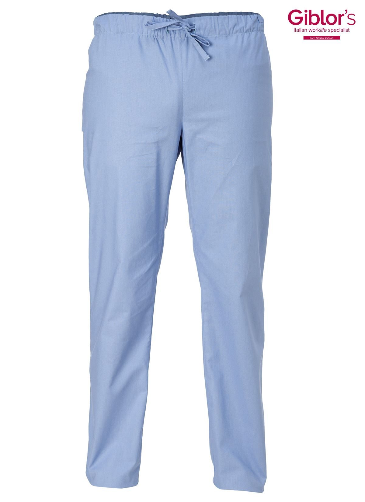 Unisex elasticated scrub trousers with two front pockets and 1 rear pocket