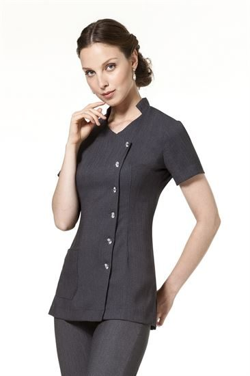 Sweetheart Diamante Button Linen-Look Tunic B708E