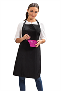 Black waterproof apron with adjustable strap