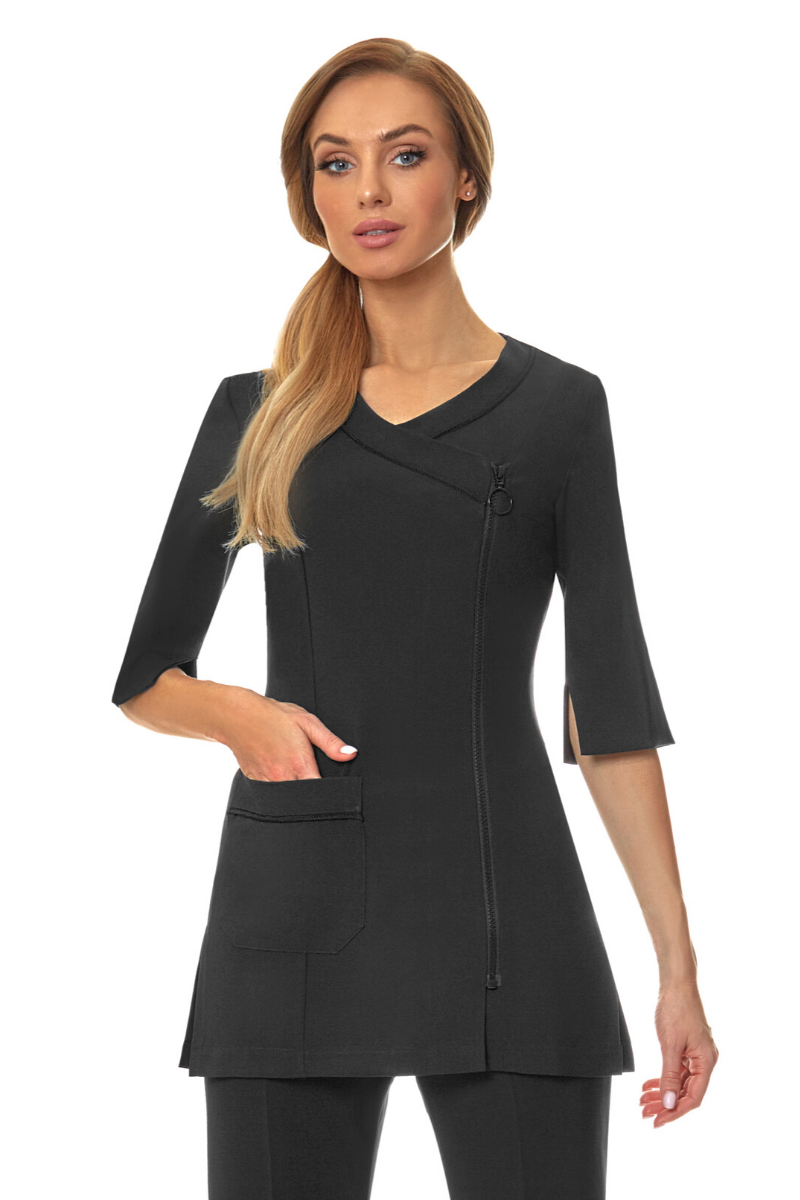 Zip Front Long Sleeve Tunic B778LS