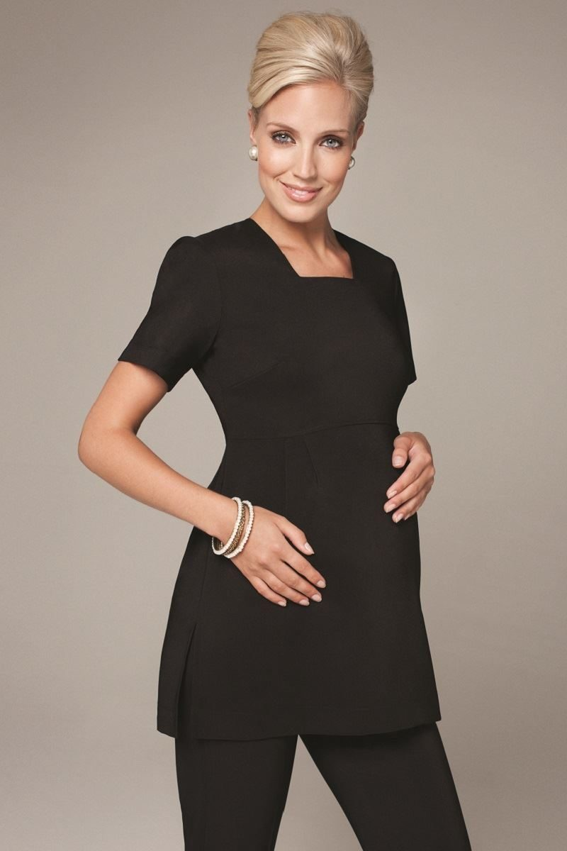 B521 Black Maternity Tunic