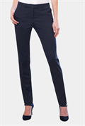 Black tapered leg trousers with side pockets
