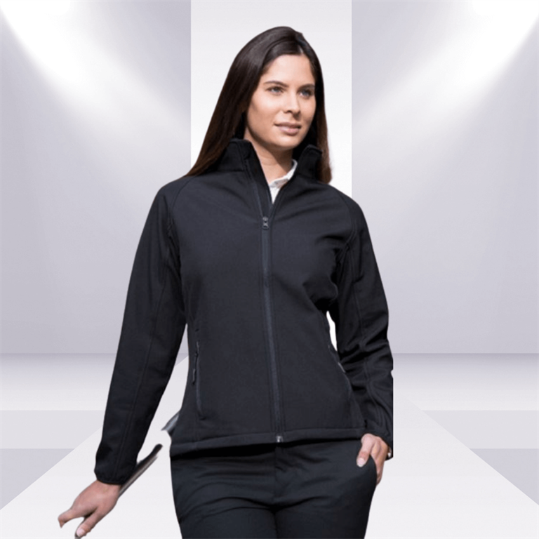 Woman in a business professional jacket on catwalk