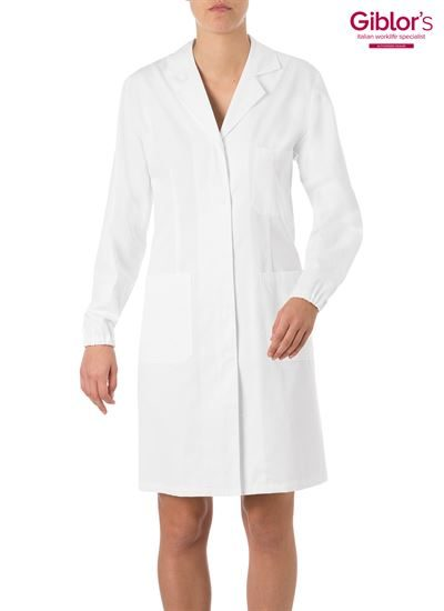 Concealed button front closing lab ciat with elastic cuff on sleeve