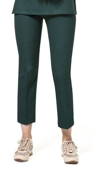 Slim Leg Linen-Look Trousers B066L