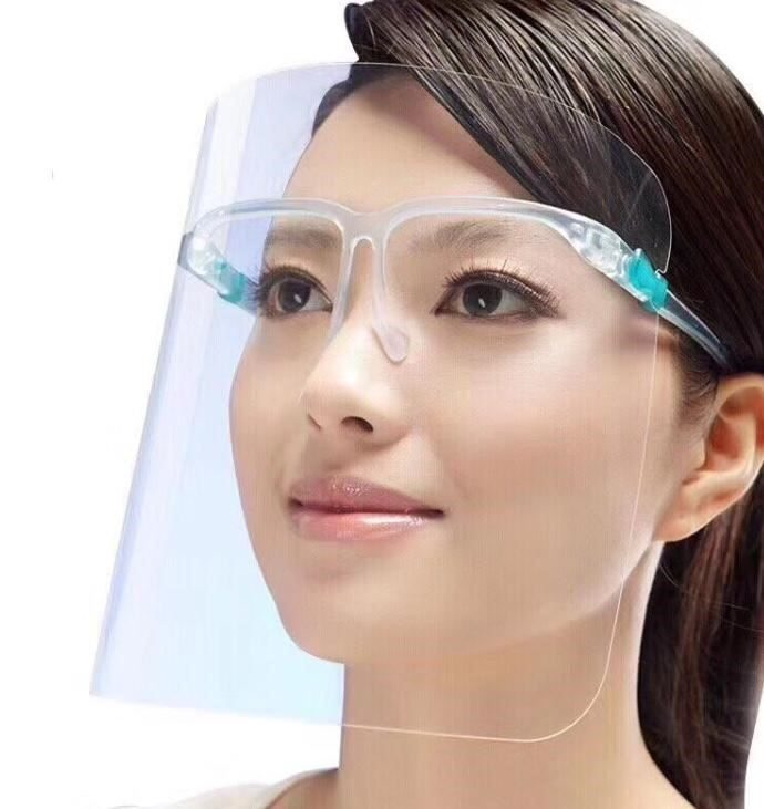 Clear glassed face shield