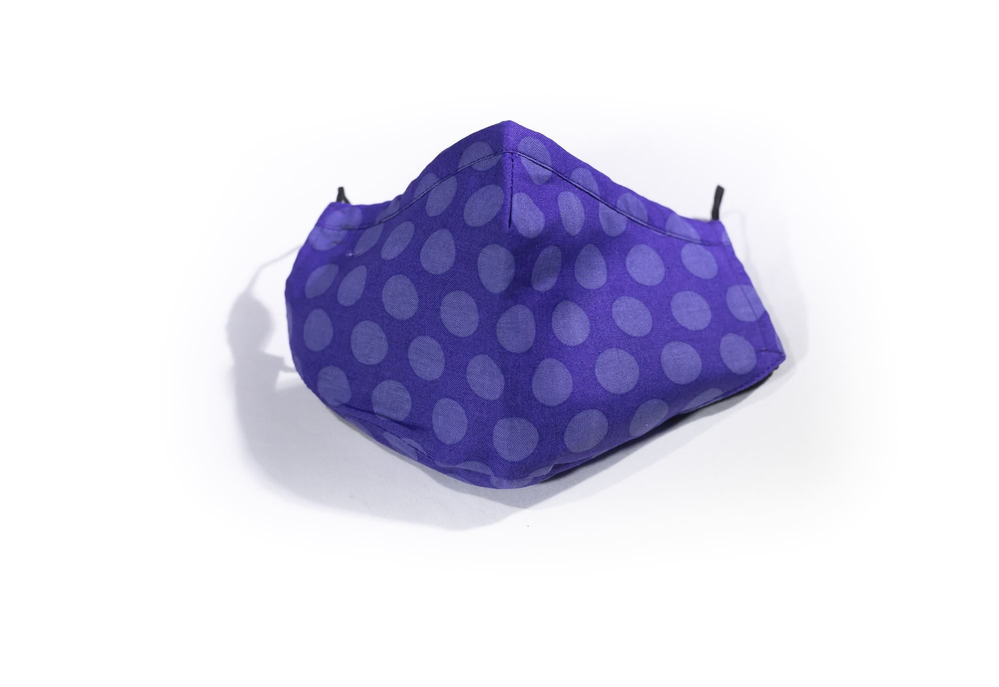 Purple Polka Dot Face Covering
